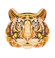 Detailed Patterned head of the tiger African vector image vector image