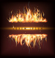 fire business promotion vector image vector image