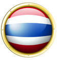 flag of thailand in round frame vector image vector image