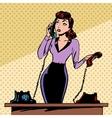 girl secretary answers the phone progress