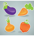 glossy cartoon vegetables vector image
