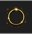 gold 3d ring circle frame template background vector image