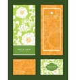 green and golden garden silhouettes vertical frame vector image vector image