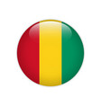 guinea flag on button vector image