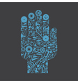 Hand the tool vector image vector image