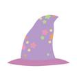 happy halloween celebration witch hat costume vector image