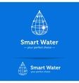 line style clean water drop logo Wireframe vector image