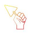 line triangular spatula equipment service industry vector image