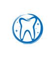 logo design for healthy bones and teeth vector image vector image