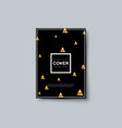 luxury brochure cover with golden triangles vector image