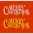 Merry Christmas Lettering for Greeting Card vector image vector image
