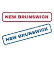 New Brunswick Rubber Stamps vector image vector image
