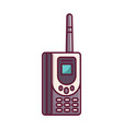 old retro vintage brick cellular phone vector image vector image