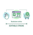 online bookstore concept icon digital shop vector image