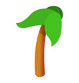 palm tree icon cartoon style vector image