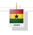 photo of ghana flag vector image vector image