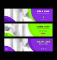 purple web banners templates horizontal web banne vector image vector image