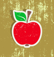 Red apple label vector image vector image