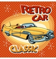 Retro car classic abstract model vector image vector image