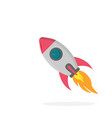 rocket icon on a white background vector image