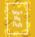 save the date card with fluffy yellow tulips vector image vector image