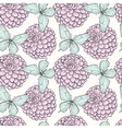 seamless background with butterflies and dahlias vector image vector image