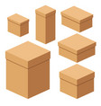 set of packing boxes vector image vector image