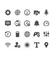 setting glyph icons vector image vector image