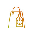 shopping paper bag with discount percent commerce vector image