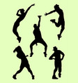 silhouette male dancer 04 vector image vector image
