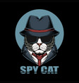 spy cat head vector image vector image