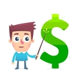 Study of Financial Market vector image vector image