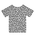 t-shirt composition of dollar and dots vector image