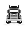 truck logistic silhouette logo template perfect vector image vector image