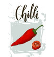vegetable food banner chilli sketch organic food vector image vector image