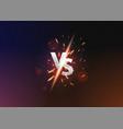 versus vs background versus logo vs letters vector image vector image