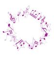 violet music frame vector image