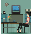 Watching TV in the house vector image vector image