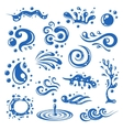 Water splashes icons vector image