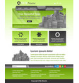 website template layout vector image vector image