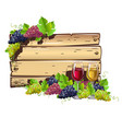 wine empty frame vector image vector image