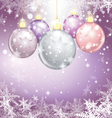 winter holiday of christmas balls vector image