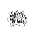with all my heart hand lettering inscription love vector image vector image
