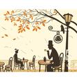 autumn cafe vector image