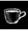 coffee chalk 02 vector image