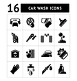 Set icons of car wash vector image