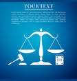 symbol of law and justice scales of justice book vector image