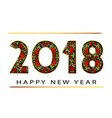 2018 happy new year gold numbers design of vector image