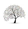 Abstract floral tree for your design vector image vector image