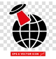 Alien Visit Eps Icon vector image vector image